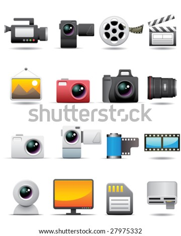 Photo, Video, Film Icons -- Premium Series - stock vector