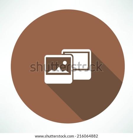 photographs icon - stock vector