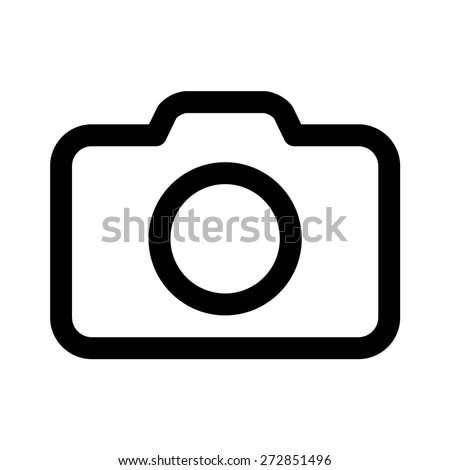 Photography camera or digital camera line art icon for apps and websites - stock vector