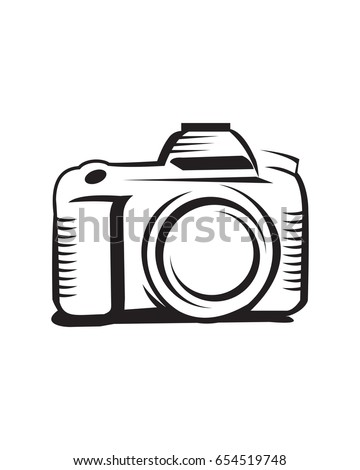 Photography Camera Vector Simple Drawing Stock HD Royalty Free 654519748