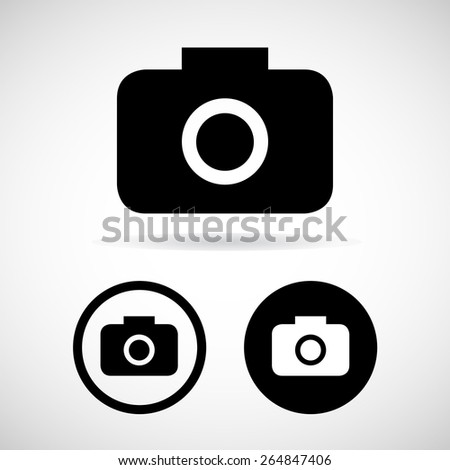 Photography icons on white background. Vector illustration. - stock vector
