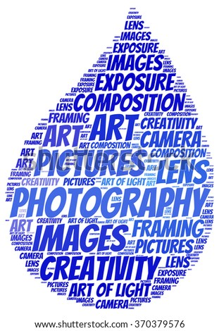 Photography info-text (cloud word).