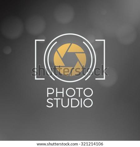 Photography Logo Design Template. Retro Vector Badge. Photo Studio - stock vector