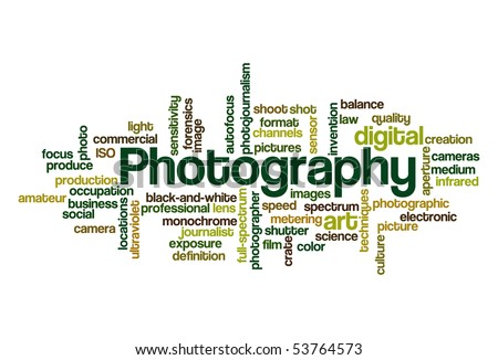 Photography - Word Cloud - stock vector