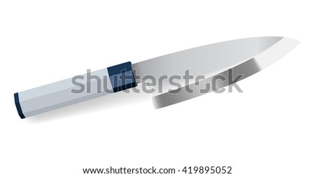 Photorealistic chef knife - stock vector
