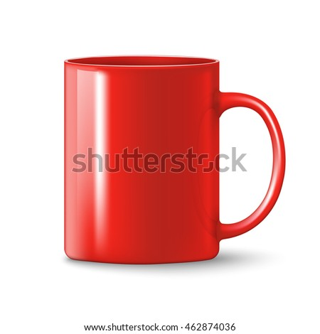 photorealistic red cup