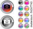 Photos multicolor glossy round web buttons. - stock photo