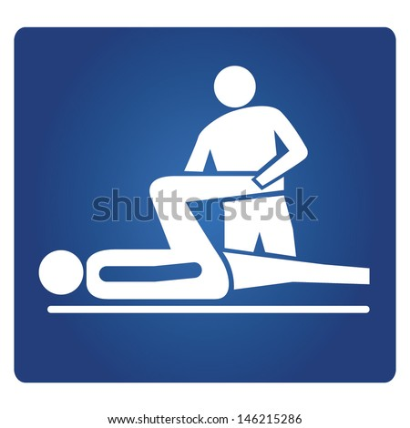 physical therapy - stock vector