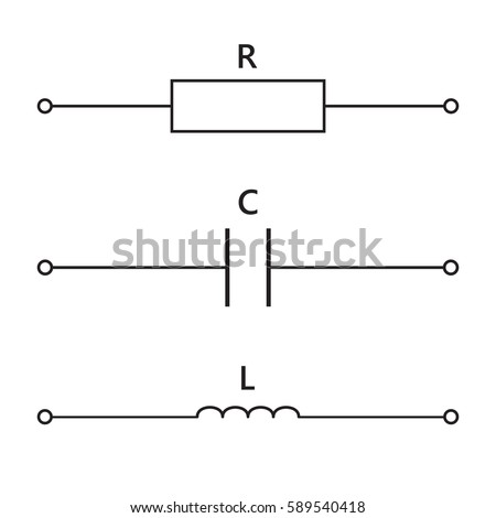 Physics Electrical Circuit Elements Set On Stock Vector 589540418 ...