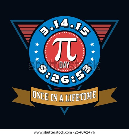 Pi Day Humor T-shirt Typography Graphics, Vector Illustration - stock vector