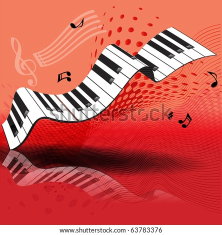 piano background - stock vector