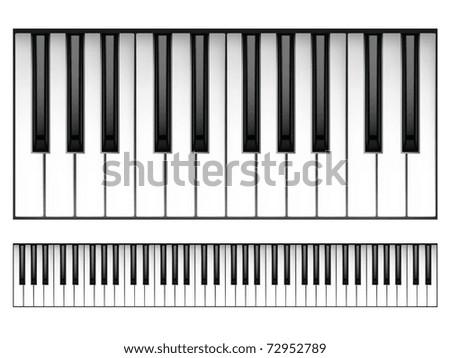Piano Keyboard - stock vector