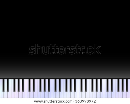 Piano keyboard against black copy space background vector - stock vector