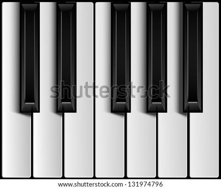 Piano keys - stock vector