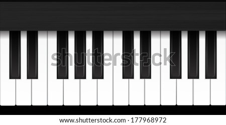 Piano vector illustration eps 10 - stock vector