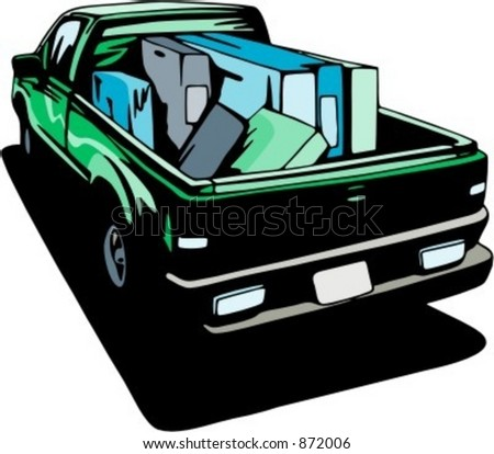 Pick-up. Check my portfolio for many more images of this series. - stock vector