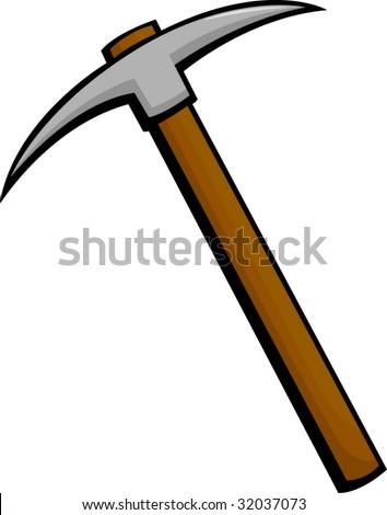 pickaxe mining tool - stock vector