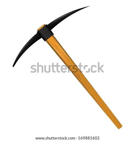 Pickaxe tool - stock vector