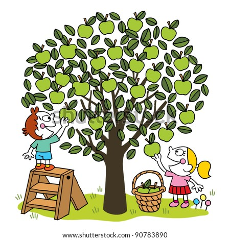Kids Picking Apples Stock Images, Royalty-Free Images ...