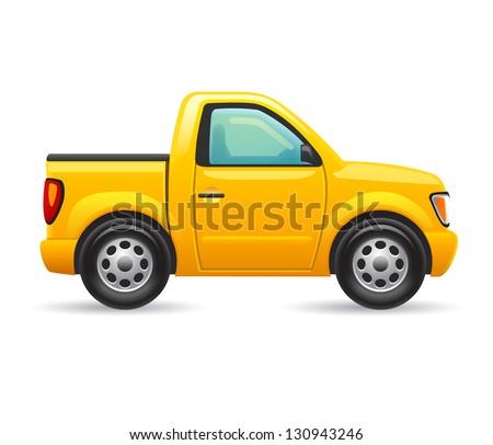 Pickup truck - stock vector