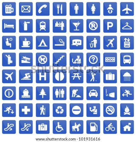 pictogram set - stock vector