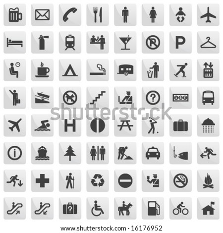 pictogram set - stock vector