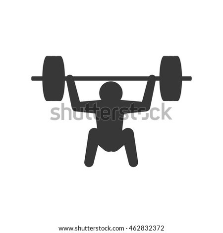 pictogram weight fitness gym sport icon. Isolated and flat illustration. Vector graphic