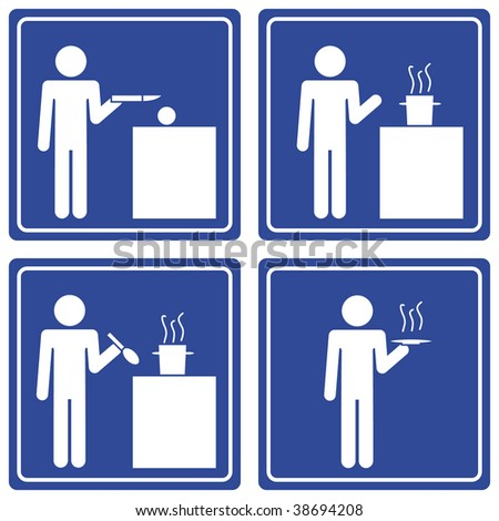 Pictograph - cooking, male - stock vector