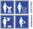 Pictograph - Laundry - stock photo