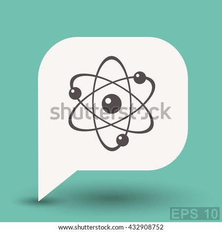 Pictograph of atom - stock vector