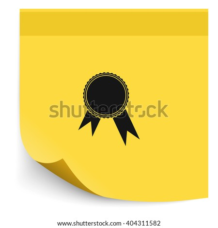 Pictograph of award.