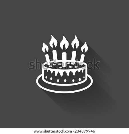 Pictograph of cake - stock vector