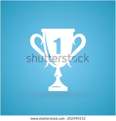 Pictograph of champions cup - stock vector