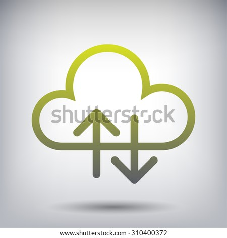 Pictograph of cloud - stock vector