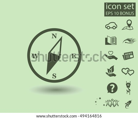 Pictograph of compass