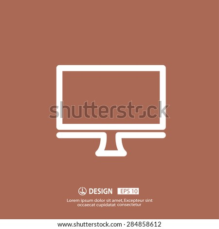 Pictograph of computer - stock vector