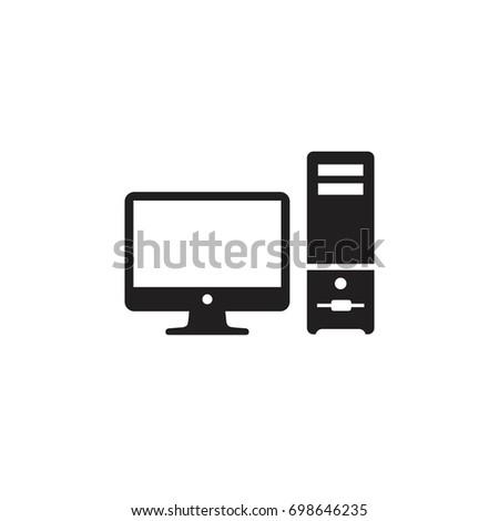 pictograph computer portable monitor screen template stock vector