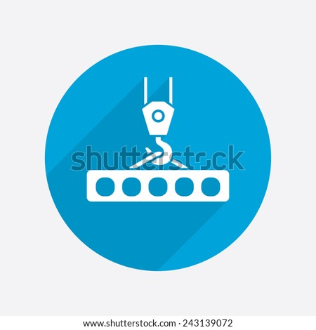Pictograph of crane hook - stock vector