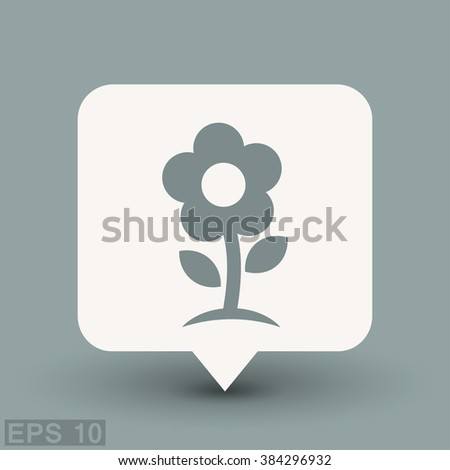 Pictograph of flower