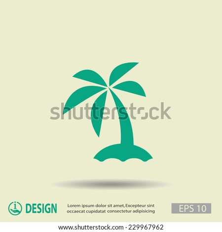 Pictograph of island - stock vector