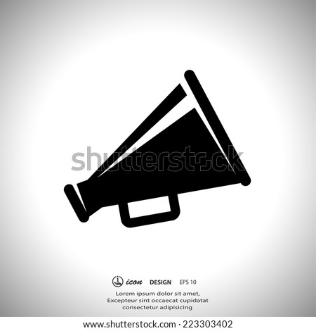 Pictograph of megaphone - stock vector