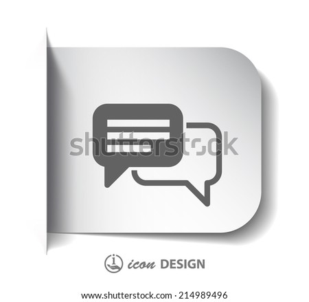 Pictograph of message or chat - stock vector