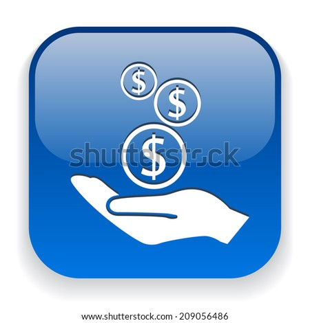 Pictograph of money in hand - stock vector