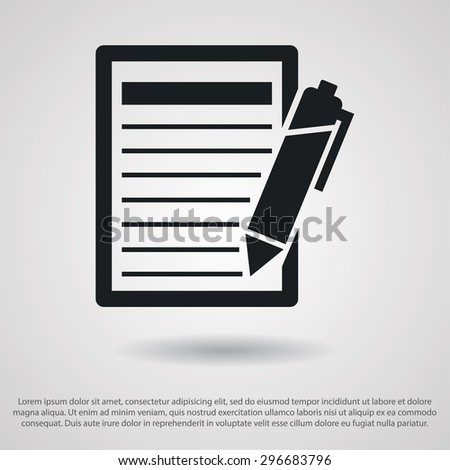 Pictograph of note icon. Vector  Eps 10  - stock vector