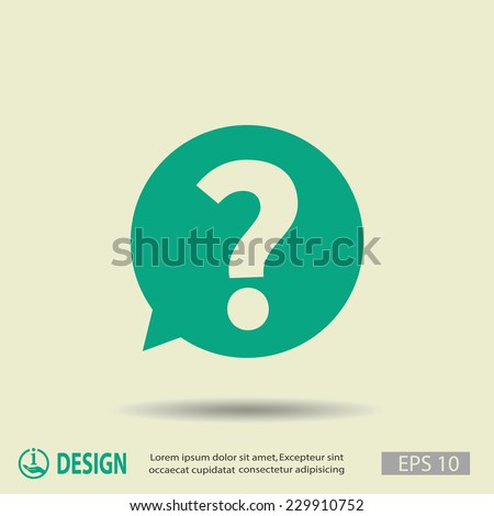 Pictograph of question mark - stock vector