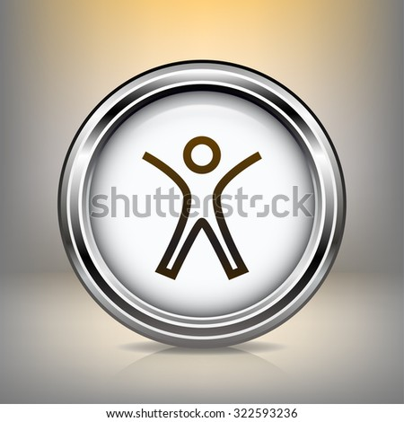 Pictograph of success people - stock vector
