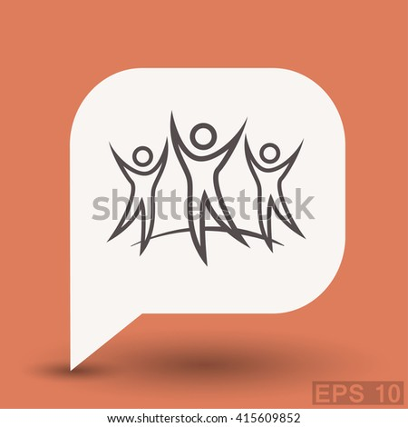 Pictograph of success team - stock vector
