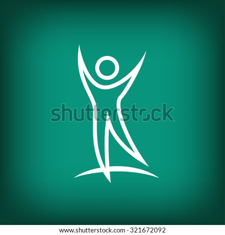 Pictograph of successful people - stock vector