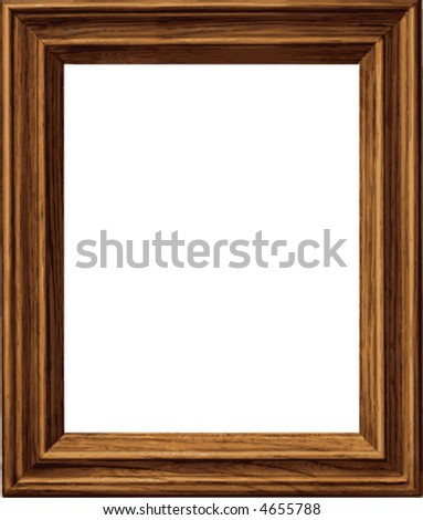 Picture frame; classic generic wood style.