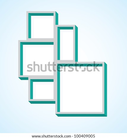 Picture Frame Cluster Vector de stock100409005: Shutterstock